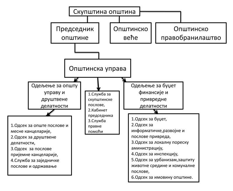 organizaciona struktura opstina novi knezevac