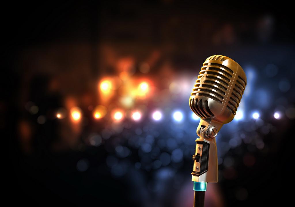 audio microphone retro style